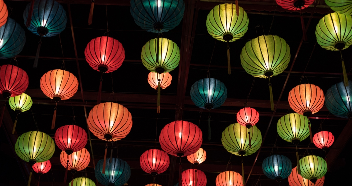 Lanterns in Vietnam market
