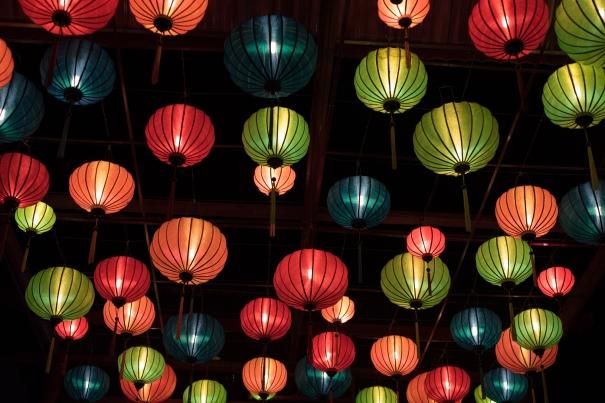 Lanterns in Vietnam market